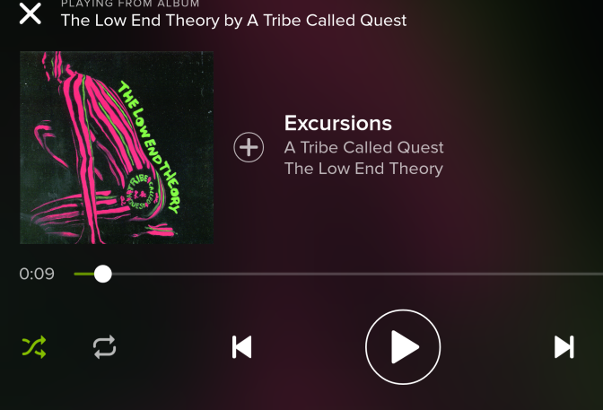 My Life in 100 Songs: Excursions by A Tribe Called Quest